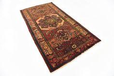Red 3' 5 x 6' 7 Hamedan Persian Runner Rug | Persian Rugs | iRugs UK