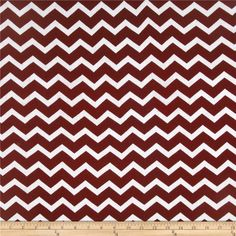 Stretch Rayon Jersey Knit Small Chevron Wine/White from @fabricdotcom  This rayon jersey knit fabric has an ultra soft hand, a fluid drape and 50% stretch across the grain. This versatile fabric is perfect for creating stylish tops, tanks, lounge wear, gathered skirts and fuller dresses with a lining. Colors include wine red on a solid white background.