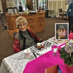 We were excited to celebrate Dorothy's 106th birthday on September 23rd here at Thornebridge Gardens Retirement Residence in New Westminster! 😊🎂 #vervecares #community #goodtimes #birthday #celebration