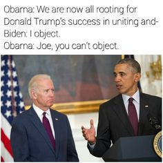 46 ways Biden, Obama might be coping with Trump's win Joe And Obama, Obama And Biden, Joe Biden, Funny Facts, Funny Memes, Hilarious, Jokes, Stupid Memes, Obama Funny