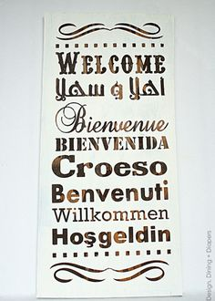 How To Make A Multi-Lingual Wood Welcome Sign as well as other silhouette cameo projects