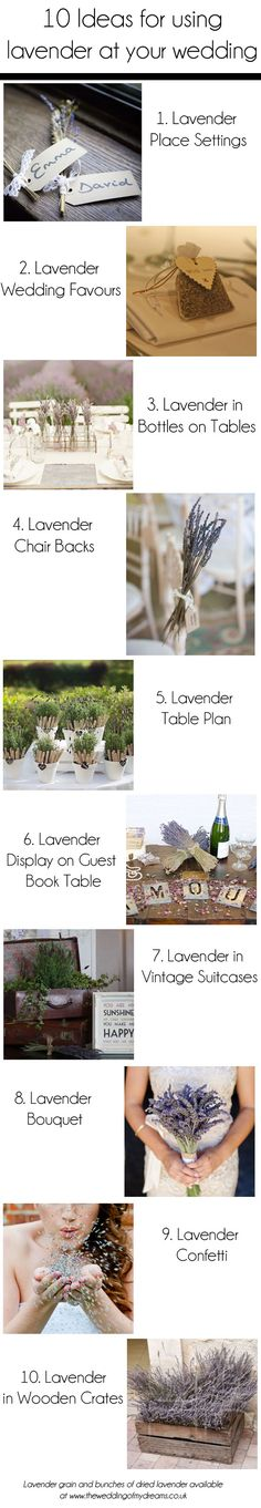 10 ideas for using lavender at your wedding (by theweddingofmydreams)