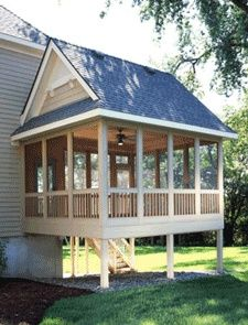 screened porch addition. @Jennifer Redford I can totally see something like this off of your new living room :)