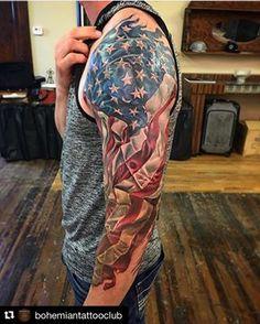 Patriotic Tattoos For Guys : patriotic, tattoos, American, Tattoo