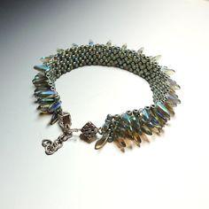 Jewelry Bracelet Blue Metallic Bead Base AB by CalliopeAZCreations, $48.00