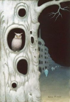 Lydia Anneli Bleth: Hogwarts School OWL-ART * EULEN-KUNST © Irene Müll...