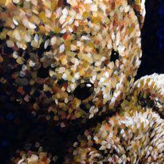 Detail of Teddy Bear, 120x100cm, oil on canvas - www.marcelstraver.nl