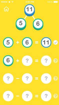 Fact family and decomposing number app {Free}