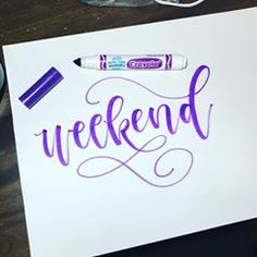 Happy weekend, everyone! Be safe and have fun! • • • #calligraphy #fauxcalligraphy #handwriting #lettering #handwritten #byme #handlettered #lettered #crayoligraphy #crayola #letteringpractice #modernlettering #moderncalligraphy #togetherweletter #dailylettering #brushpen #brushlettering #letters #lee etteringart #art #artsy #typespire #thedailytype #typography #typografia #artoftheday #calligrafriends #theletterlovelies