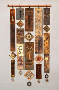 Frances Solar - Society of North American Goldsmiths Steampunk Home Decor, Copper Art, Creation Deco, Textile Fiber Art, Found Art, Assemblage Art, Wire Art, Wall Sculptures, Wood Wall Art