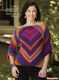 . Мой радужный пуловер из КАУНИ  Радуга (модель МАГИЧЕСКИЙ КВАДРАТ)