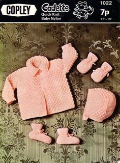 Baby QK Matinee set Sizes 17 and 19ins  Copley 1022  pdf of