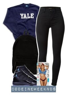 """""""8:17:15"""" by codeineweeknds ❤ liked on Polyvore featuring Ann Demeulemeester, J Brand and NIKE"""