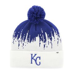 wholesale dealer 278a5 a9aed Kansas City Royals Riser Cuff Knit Royal 47 Brand Hat