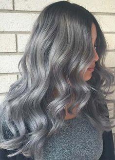 Granny Silver/ Grey Hair Color Ideas: Melting Silver Hair