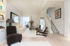 4 bedroom terraced house for sale in Pursers Cross Road, London - Rightmove. Victorian Terrace House, Victorian Homes, Victorian Hallway, Victorian Townhouse, Stairs In Living Room, Open Staircase, Floor Layout, Contemporary Style Homes, Front Rooms