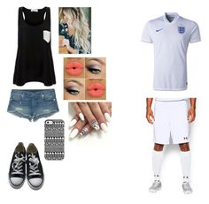 """""""Meeting a soccer player and plays for England"""" by mlchambers ❤ liked on Polyvore featuring True Religion, Under Armour, Converse, Solid & Striped and Giuseppe Zanotti"""