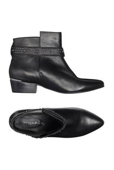 Long Tall Sally | Studded Strap Leather Ankle Boots