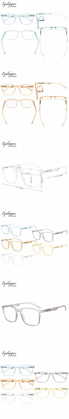 R151-Mix-5pcs Eyekepper 5-Pack Large Frame Mens Womens Reading Glasses With Special Spring Hinge (One for each color)