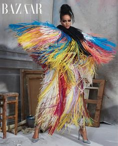 """Rihanna Models Chic Looks for 'Harper's Bazaar' Cover Story!: Photo Rihanna is on the cover of Harper's Bazaar's May 2019 issue and she's looking flawless in some amazing couture! """"The incredible feat of design that is couture… Rihanna Moda, Estilo Rihanna, Rihanna Fenty, News Fashion, Fashion Shoot, Editorial Fashion, Fashion Beauty, Style Fashion, Crazy Fashion"""