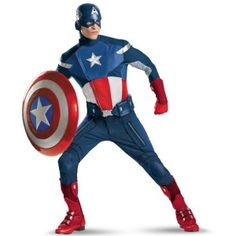 Captain America Avengers Age of Ultron Fancy Dress Costumes For Adults and Kids in all shapes and sizes. Coming Soon The Hulk, Thor, Iron Man, Black Widow and Captain America Halloween Costume, Top 10 Halloween Costumes, Adult Costumes, Adult Halloween, Halloween 2013, Halloween Ideas, Captain Costume, Men's Costumes, Wicked Costumes