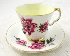 Royal Grafton Gold Tea Cup and Saucer Vintage Tea by TheAcreage