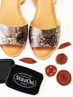 DIY Stamped Shoes