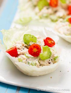 Healthy Tuna Salad: NO mayo, low carb, and super easy!
