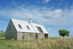 Interesting upstairs balcony-modern-barn-house-gsmr-llp