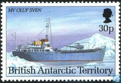 Postage Stamps - British Antarctic Territory - Antarctic research vessels