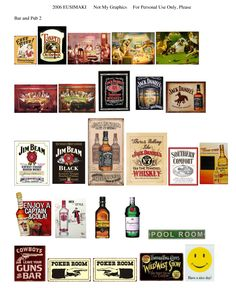 Bar or Pub and Outdoor Signs - Website devoted to 1/12th scale miniature dollhouse printables (printies)!