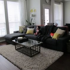 KIVIK Loveseat and chaise lounge, Dansbo dark gray - Google Search