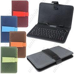"""Capa com teclado para tablet MICRO USB - 7"""" varias cores"""