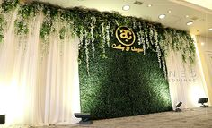 greenrey_backdrop_wedding_event_The Harbour Plaza Hotel_ 景 逸 逸 - einfache Dekorationsideen Reception Stage Decor, Wedding Backdrop Design, Wedding Stage Design, Wedding Reception Backdrop, Backdrop Event, Engagement Stage Decoration, Wedding Hall Decorations, Backdrop Decorations, Backdrops