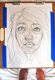 nmatties - self portrait in progress
