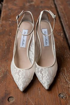Lace Heels with Ankle Strap Article: 17 of Our Favorite Wedding Shoes Worn by Real Brides Photography: Maria Angela Photography Read More: http://www.insideweddings.com/news/fashion/17-of-our-favorite-wedding-shoes-worn-by-real-brides/1968/