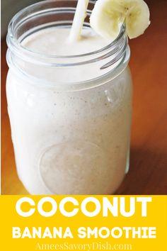 Coconut Milk Drink, Coconut Almond Milk, Coconut Milk Smoothie, Coconut Milk Recipes, Smoothies With Almond Milk, Banana Coconut, Coconut Cream, Green Smoothies, Whole30 Almond Milk