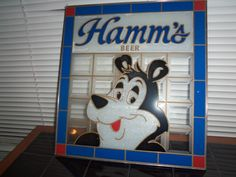 Hamm's Beer Sign Stained Painted Glass | eBay.   Sold for $49  plus $12 S&H