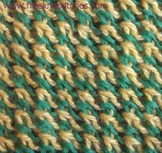 Stroke Stitch Pattern.  Great multi-color stitch on Free Knit Stitches at http://freeknitstitches.com/pattern.php?num=46=5