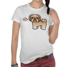 Gold Cartoon Havanese Love T-shirt #havanese #dog