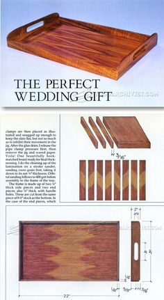 Wooden Tray Plans - Woodworking Plans and Projects | WoodArchivist.com