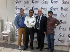 Con el periodista Jimmy Chinchay de Canal N y el rector Carroll Dale de la Universidad Simón Bolívar en Radio Cepea. (2015)