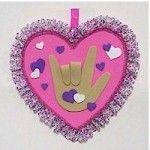 Sign Language I Heart You- preschool or elementary art/craft for Valentine's Day | TeacherTime123