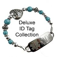 Medical ID Bracelets and jewelry custom engraved for men, women, children - Womens Medical Alert Bracelets/Jewelry