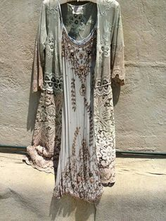 ➳➳➳☮American Hippie Bohemian Boho Bohéme Feathers Gypsy Spirit Bizu Baroque Tati Tati Style - Dress and Jacket