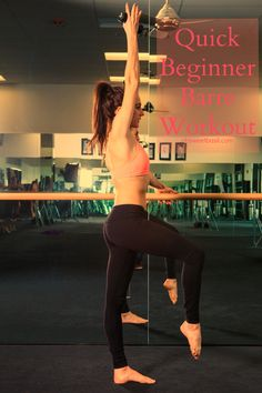 This beginner barre workout is totally changing my body and I am loving it!