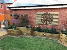 WoodBlocX is the UK's best modular timber building system perfect for Raised beds planters ponds and walls. Our award winning system has been available since 2001 and we are able to deliver anywhere in the country within 3 working days. New Build Garden Ideas, Garden Design Ideas On A Budget, Back Garden Design, Small Front Garden Ideas On A Budget, Raised Garden Bed Plans, Building Raised Garden Beds, Raised Beds, Front House Landscaping, Backyard Landscaping