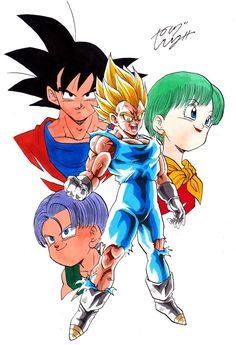 """I do this for Bulma, Trunks, and yes...even you Kakarot."" Drawn by: Young Jijii #SonGokuKakarot"