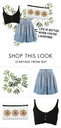 """""""Oh Sunny Days! (Sunflower Bags)"""" by vanidclothing ❤ liked on Polyvore featuring Current/Elliott and Forte Forte"""