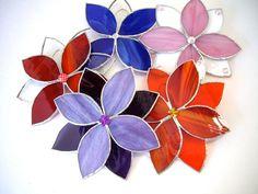 Flower stained glass 3D flower sun catcher by jpcountrymarket